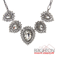 Fashion Crystal Stone Bib Necklace Fashion Jewelry N6-10274A-11250