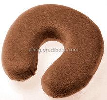 Comfort Cheap Short Plush Car Memory Foam U Shape Travel Neck Pillow For Good Supporting
