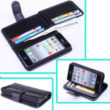 High Quality PU leather case for iphone5 5G,For iphone 5 case wallet with stand filp cover With 8 Card Holders