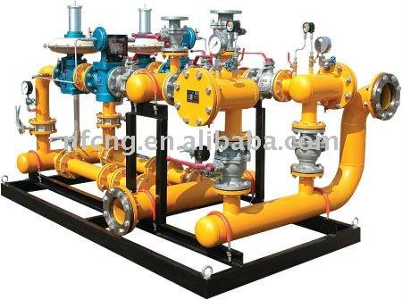 Gas de regulación de medición de sistema