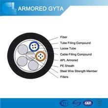 Light Weight Outdoor Single Mode Fiber Optic Cable GYTA