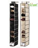 2015 New design foldable fabric hanging shoe storage organizer with 10 shelf