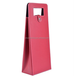 luxury design faux leather wine carrier for wine package