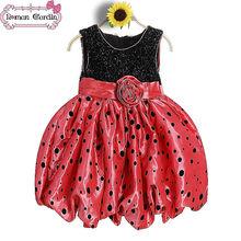 Baby 2014 vestido de fiesta para las niñas vestidos hinchada para los niños vestido años 3-8