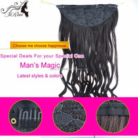 Wholesale cheap natural curly clip in hair extensions, top grade chennai india hair