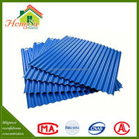 Good workmanship roofing sheet of pvc resin plastic corrugated roof