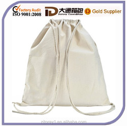 Good Quality Cotton Canvas Plain Drawstring Bag For Shopping