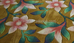 Wool/Acrylic Hand Tufted Carpet with Beautiful flower Pattern