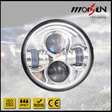 5.75 round led headlight Chrome and Black for options one year warranty