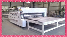 four colours corrugated paperboard printing slotting carton machine