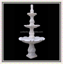 Land decorative three tiers water fountains