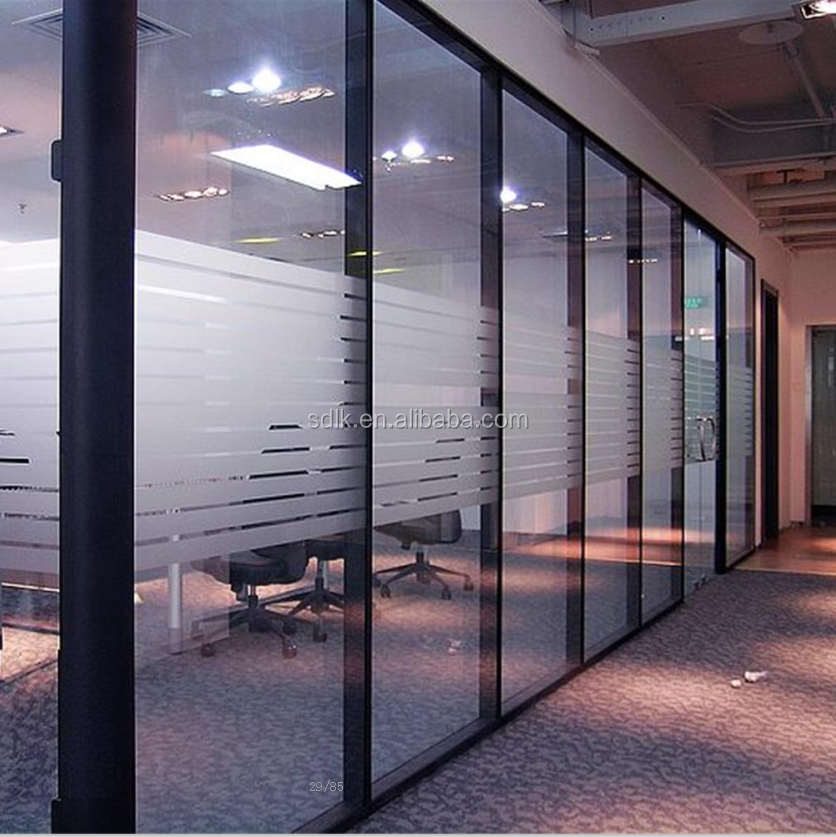 Cheap Aluminium Office Partition Glass Wall Decorative