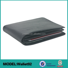 Customized logo folio leather men money clip with removable part