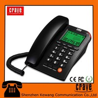 new products on market low price talking number caller ID phone with super LCD