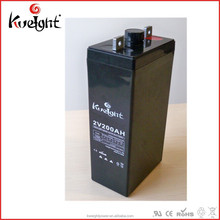 Kweight House using solar lighting lead acid battery 2v 200ah