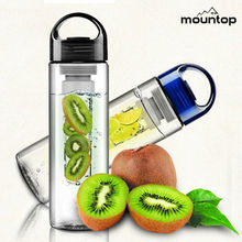 2014 hot new plastic fruit infuser water bottle portable