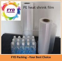 Hot selling plastic PE heat shrink film for bottle bundle packing