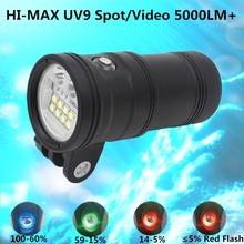 HI-MAX Undersea Deep Dive Scuba Diving Light 5000 Lumens