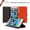 2015 New wallet for iphone 6s flip case for iphone 6s plus cover with PC holder