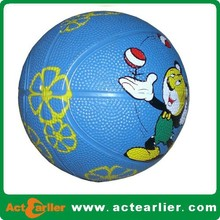 official size colorful rubber basketball for training