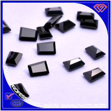 Best Price For Black Trapezoid Shape Artificial Gems In Different Sizes