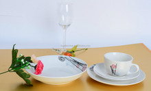 ceramic commercial plates dinner set with decal ,porcelain dinner plate with gift box produced in shandong qingdao