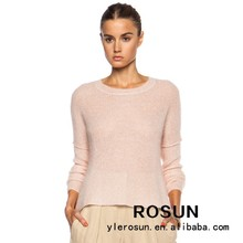 Pull femme pull en tricot à manches longues de bonbons de couleur coréens, chandail de crochet