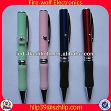 2014 China Supplier New Style Colourful Led Flashing recycled paper ball pen