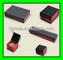 book shape matt black printing Blinking rigid Paper Jewelry Box
