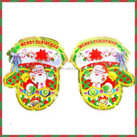 3D Glitter Santa Gloved Christmas decorations Paper ornaments