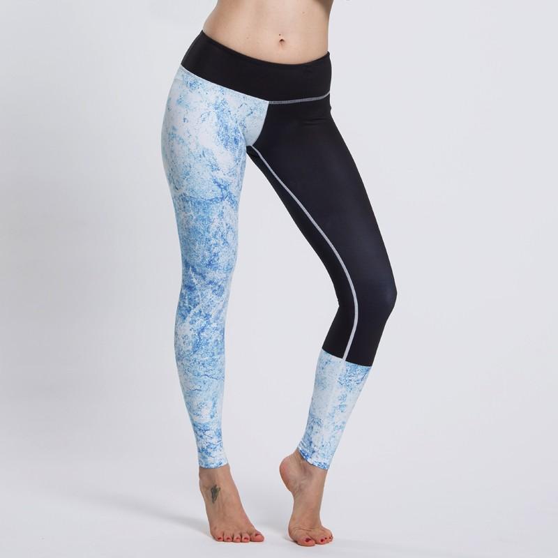 Women sports pants made of stretch nylon spandex fabric, yoga leggings 5