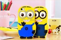 3D Despicable Me Yellow Minion Soft Silicone Skin Protective Case Cover For iPhone