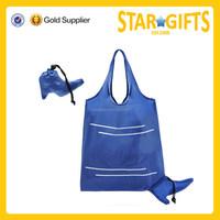 Portable high-heel shoe shape cheap foldable polyester shopping bag