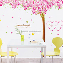 Adesivo De Parede Home Decoration The New Listing Three Generation Stickers Wholesale Version Of Double Cherry Tree AM9003 Art