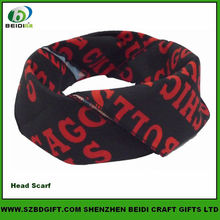 Black Cool Neck Kerchief with Red Letter Printed