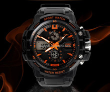 Original PU Strap 50M Deep Waterproof Analog Digital Watch For Fitness Sport Lover