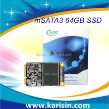 Karisin MLC Flash mSATA SSD 64G for Ultrabook / Laptop / Digital Signage / POS