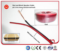 Hight Quality CCA CU Half Half Conduct Material Red And Black Speaker Wire Cable From China