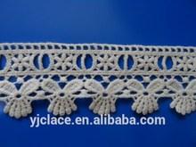 Yjc9006-1 off- blanco 100% ganchillo de algodón cordón trim