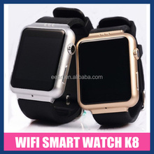 """Factory Price!!! 1.54"""" IPS screen Android 4.4.2 Smart Whach Phone K8 3G Smart Watch With WIFI.GPS"""