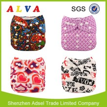 Free Shipping Alva Baby 2015 Reusable and Washable Eco-friendly Baby Diapers New Prints Cloth Diaper