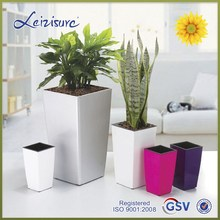 beautiful square corner self-water planter - GQ5