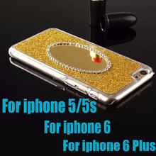 2015 Hard pc Glitter bling Chrom case for iphone 6 plus 6 5/5s with mirror diamond shiny