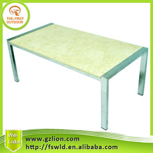 Cheap outdoor square marble table