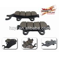 Semi-metallic disc brake pads for indoor go kart