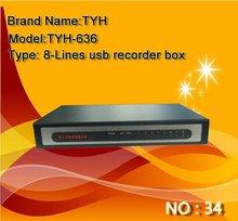 8 lines usb telephone recording box device detector !!
