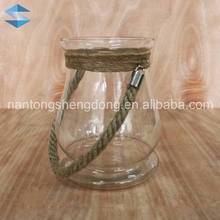 hanging decorative glass hurricane candle jars
