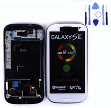 100% Original New LCD Display with Touch Screen for Samsung i9300 LCD for galaxy S3