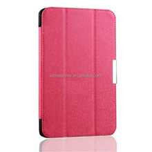 Soft PU leather folio case with back cover for Samsung Galaxy Tab 4 T330