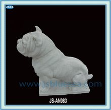Hand Carved Stone Dog Statue 2012